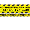 40TH BIRTHDAY CAUTION TAPE PARTY SUPPLIES