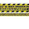 50TH BIRTHDAY CAUTION TAPE PARTY SUPPLIES