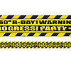 60TH BIRTHDAY CAUTION TAPE PARTY SUPPLIES