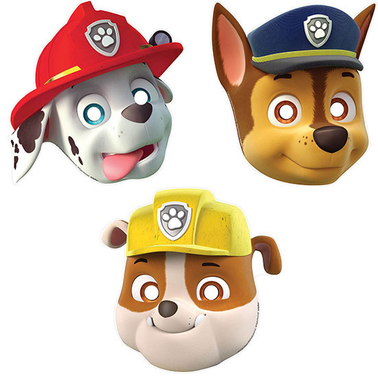 PAW PATROL MASKS PARTY SUPPLIES