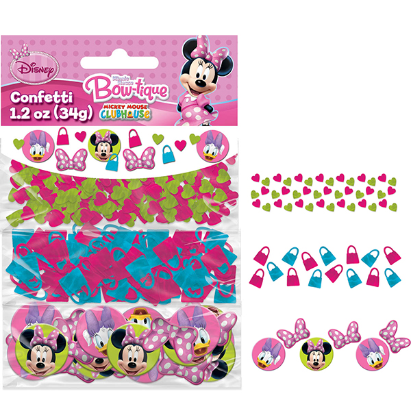DISCONTINUED MINNIE MOUSE CONFETTI PARTY SUPPLIES