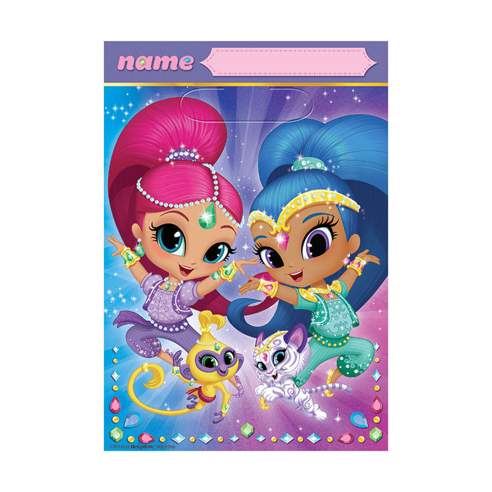 Click for larger picture of DISCONTINUED SHIMMER & SHINE TREAT BAG PARTY SUPPLIES