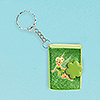 DISCONTINUED TINKERBELL GLITTER KEYCHAIN PARTY SUPPLIES