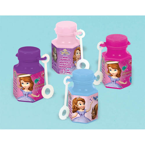Click for larger picture of SOFIA THE FIRST MINI BUBBLE FAVOR PARTY SUPPLIES