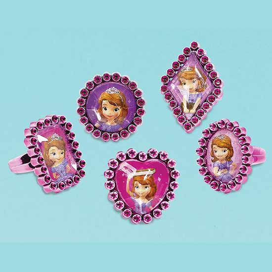 SOFIA THE FIRST JEWEL RING FAVORS PARTY SUPPLIES