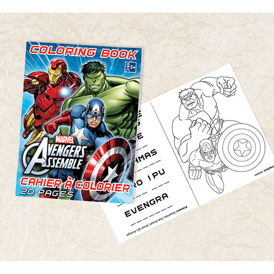 AVENGERS COLORING BOOK FAVOR PARTY SUPPLIES