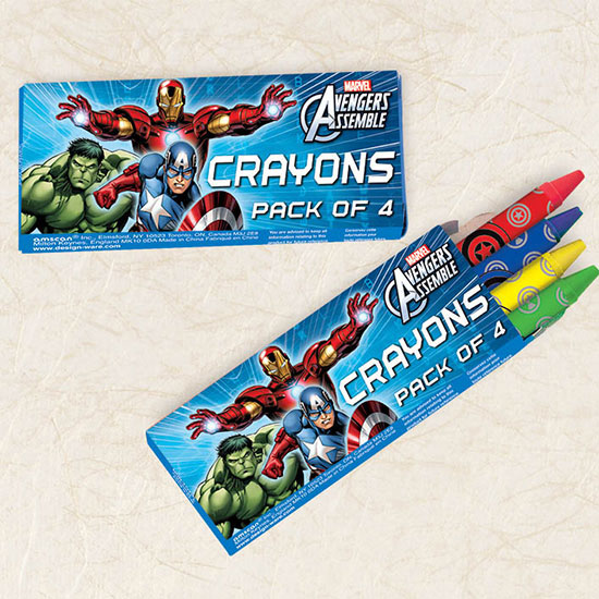 AVENGERS CRAYON FAVORS PARTY SUPPLIES