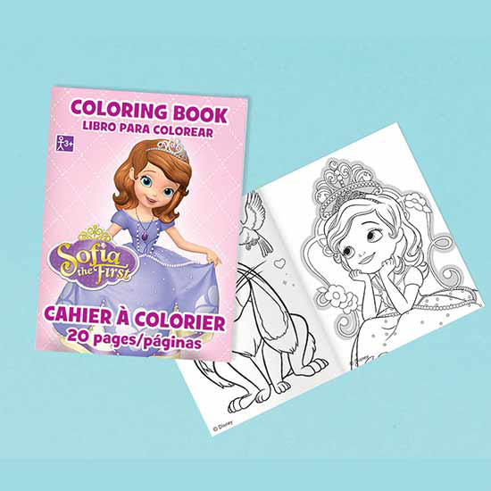 SOFIA THE FIRST COLORING BOOK FAVOR PARTY SUPPLIES