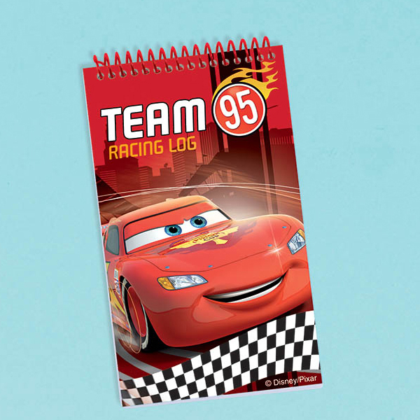 DISCONTINUED CARS FORMULA NOTE PAD FAVOR PARTY SUPPLIES