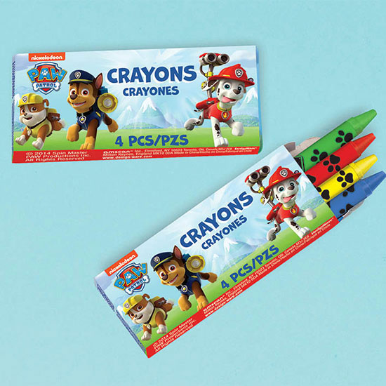 PAW PATROL CRAYON FAVORS PARTY SUPPLIES