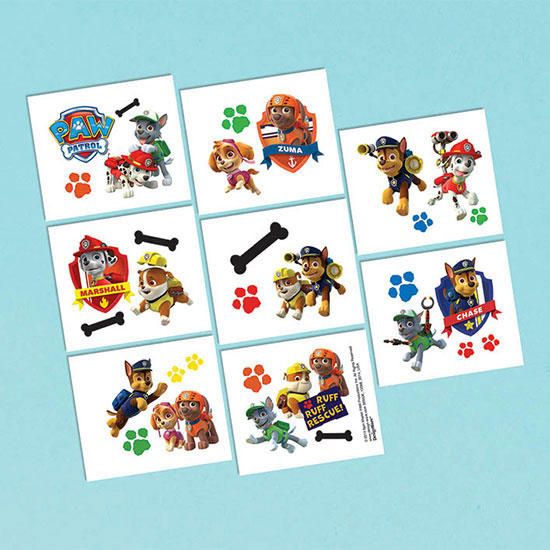 PAW PATROL TATTOOS PARTY SUPPLIES