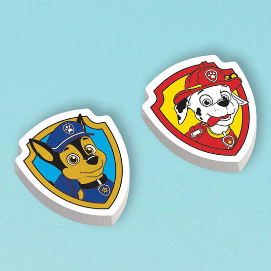 PAW PATROL ERASERS PARTY SUPPLIES