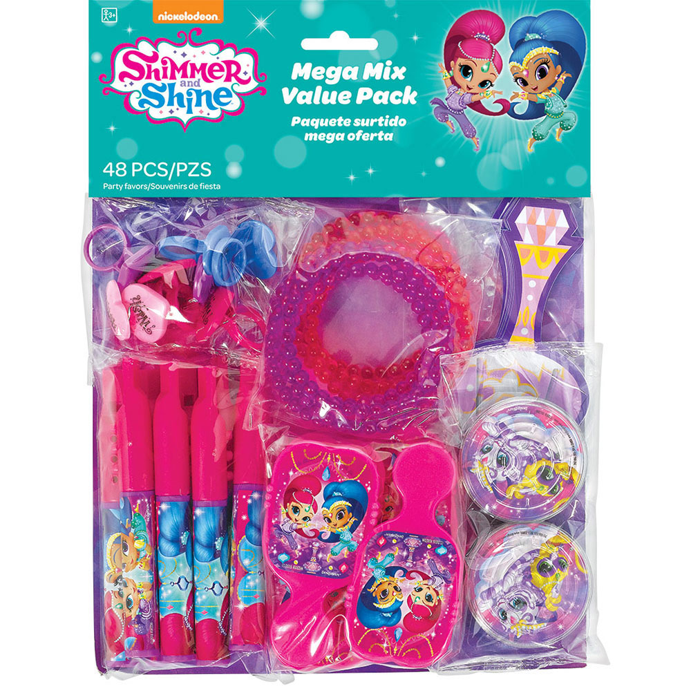 Click For Larger Picture Of SHIMMER SHINE VALUE FAVOR PACK PARTY SUPPLIES