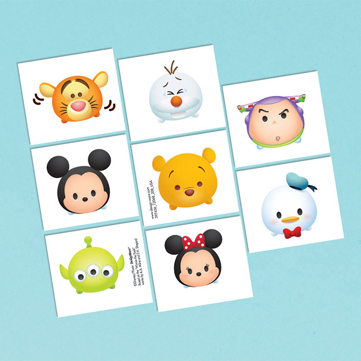 Click for larger picture of DISCONTINUED TSUM TSUM TATTOOS PARTY SUPPLIES