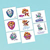 PAW PATROL GIRL TEMP TATTOOS PARTY SUPPLIES