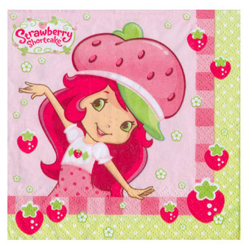 Click for larger picture of STRAWBERRY SC PARTY BEVERAGE NAPKIN PARTY SUPPLIES