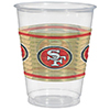 SAN FRANCISCO 49ERS CUPS 25CT PARTY SUPPLIES