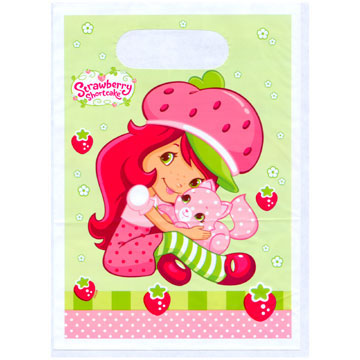 Click for larger picture of STRAWBERRY SC PARTY TREAT SACK PARTY SUPPLIES