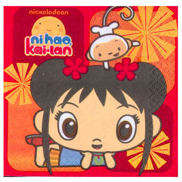 Click for larger picture of NI HAO KAI-LAN BEVERAGE NAPKIN PARTY SUPPLIES