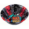 ROCK STAR PLASTIC BOWL (6/CS) PARTY SUPPLIES