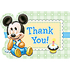 MICKEY 1ST BIRTHDAY THANK YOU NOTE PARTY SUPPLIES