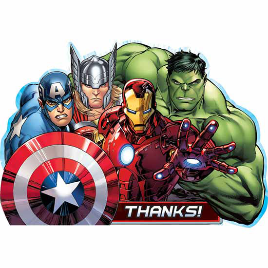 DISCONTINUED AVENGERS THANK YOU NOTE PARTY SUPPLIES