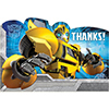 TRANSFORMERS THANK YOU NOTE PARTY SUPPLIES