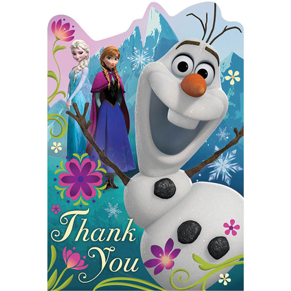 FROZEN LARGE POSTCARD THANK YOU NOTES & PARTY SUPPLIES
