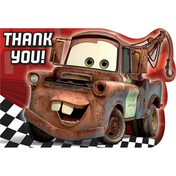 DISCONTINUED CARS FORMULA THANK YOU NOTE PARTY SUPPLIES