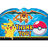DISCONTINUED PIKACHU & FRND THANK YOU PARTY SUPPLIES