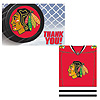 CHICAGO BLACKHAWKS INVITE/THANK YOU PARTY SUPPLIES