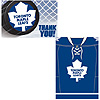 DISCONTINUED MAPLE LEAFS INVITE/THNK YOU PARTY SUPPLIES