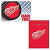 DETROIT RED WINGS INVITE/THANK YOU PARTY SUPPLIES