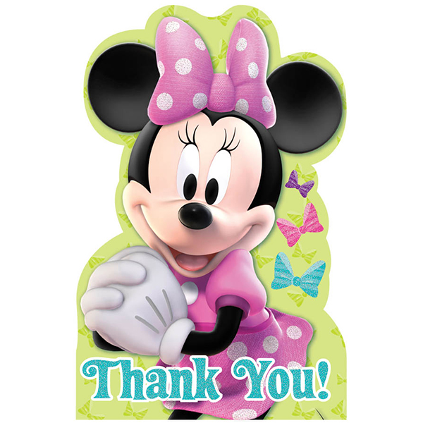 DISCONTINUED MINNIE MOUSE THANK YOU PARTY SUPPLIES