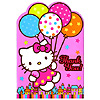 HELLO KITTY BALLOONS THANK YOU NOTES PARTY SUPPLIES