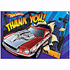 HOT WHEELS S.C. THANK YOU NOTES (48/CS) PARTY SUPPLIES