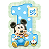 MICKEY 1ST BIRTHDAY STICKER SEALS PARTY SUPPLIES