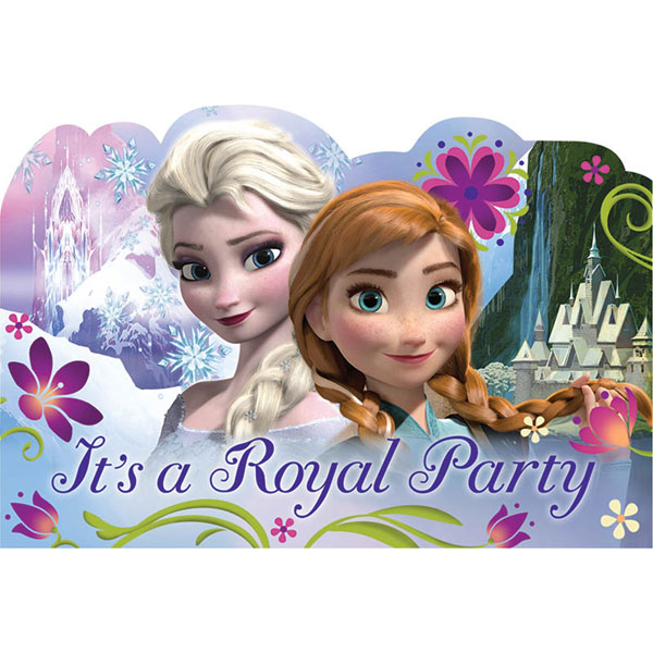 FROZEN LARGE POSTCARD INVITATION & SEALS PARTY SUPPLIES