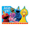 SESAME STREET INVITATION PARTY SUPPLIES