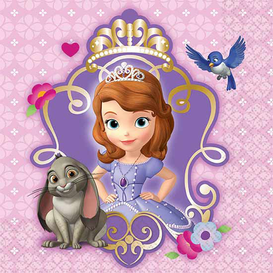 SOFIA THE FIRST BEVERAGE NAPKIN PARTY SUPPLIES