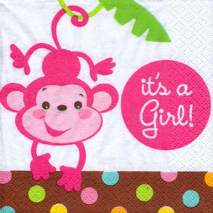 Click For Larger Picture Of FISHER PRICE BABY ITu0027S A GIRL BEVRG NAPK PARTY  SUPPLIES