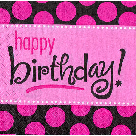 Click for larger picture of BIRTHDAY FABULOUS BEVERAGE NAPKIN PARTY SUPPLIES