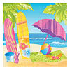 DISCONTINUED SURFS UP BEVERAGE NAPKIN PARTY SUPPLIES