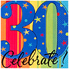 DISCONTINUED YEAR CELEBRATE 30TH BEV NAP PARTY SUPPLIES