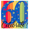 A YEAR TO CELEBRATE 60TH BEVERAGE NAPKIN PARTY SUPPLIES