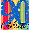 A YEAR TO CELEBRATE 90TH BEVERAGE NAPKIN PARTY SUPPLIES