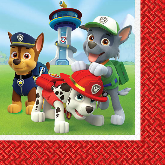 PAW PATROL LUNCH NAPKIN PARTY SUPPLIES