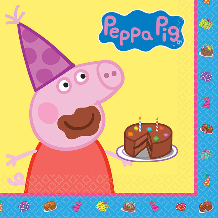PEPPA PIG LUNCHEON NAPKIN PARTY SUPPLIES