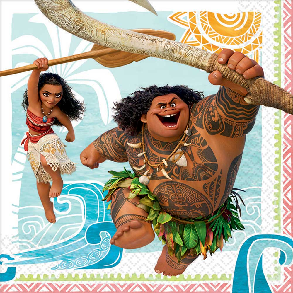 Click for larger picture of MOANA LUNCHEON NAPKIN PARTY SUPPLIES