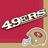SAN FRANCISCO 49ERS LUNCH NAPKIN PARTY SUPPLIES